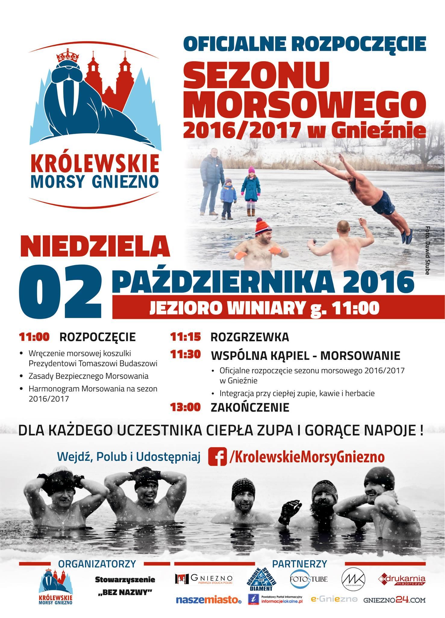 Plakat Królewskie Morsy Gniezno